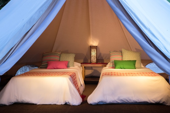 Glamping with 2 beds
